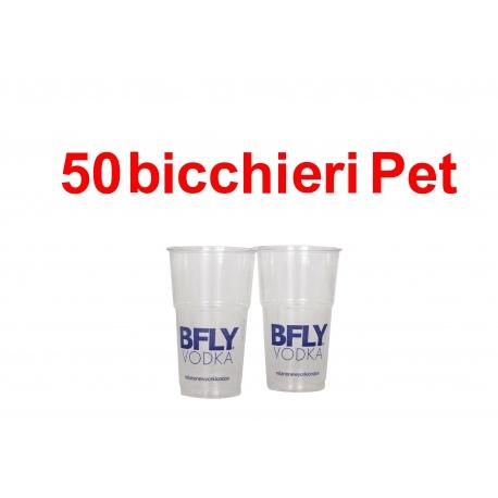 50 Bicchieri PET SLIM  bfly